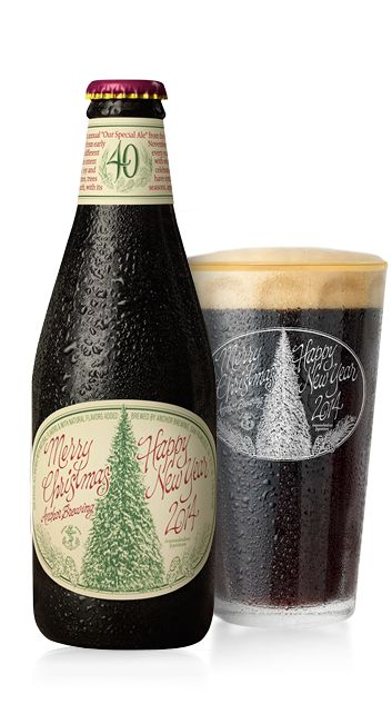 Gift idea for him: Christmas Ale from Anchor Brewing. Sold only from early November to mid–January. The Ale's recipe is different every year, as is the tree on the label.
