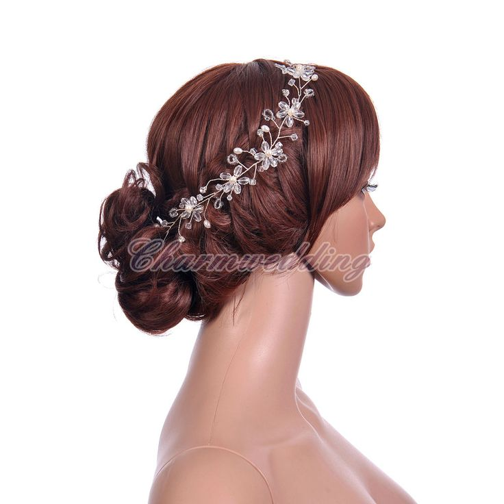 Wedding Bridal Prom Party Princess Crystal Flower Hair Band Tiara Headband NEW  #Tiara
