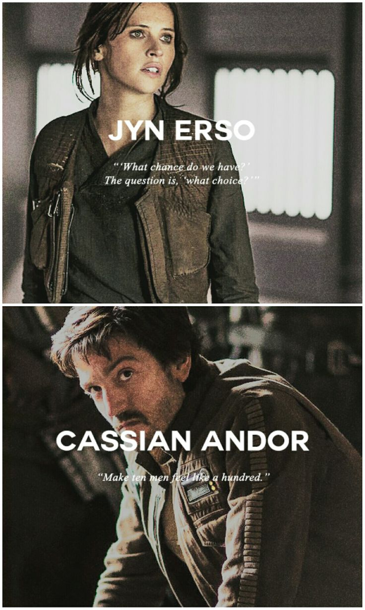 Jyn and Cassian | Star Wars | Rogue One | RebelCaptain tumblr