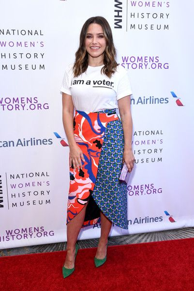4022186533 Pumps Lookbook: Sophia Bush wearing Jimmy Choo Pumps (5 of 5). Sophia Bush  added an extra pop of color with a pair of green suede pumps by Jimmy Choo.