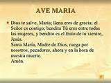 Dios Te Salve Maria Oracion Dios