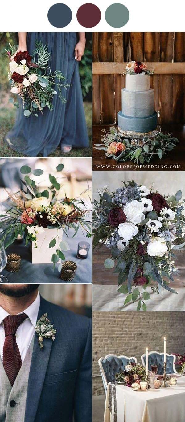 TOP 10 Fall Wedding Color Ideas For 2021 in 2020 Bright