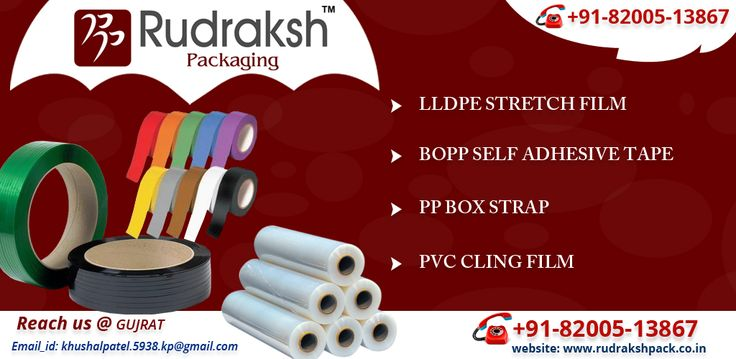 Enroll yourself for Rudraksh Packaging for LLDPE Stretch Film, BOPP Self Adhesive Tape,PP Box Strap and PVC Cling Film. for more details visit here