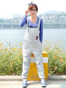 Comfortable Grey Cotton Maternity Jumpsuit