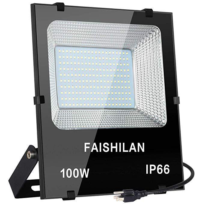 Faishilan 100w Led Flood Light 100w 500w Halogen Equiv Outdoor Ip66 Waterproof Work Lights 8000lm 6500k Outdoor Outdoor Flood Lights Led Flood Flood Lights