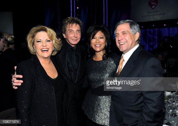 Lorna Luft, Barry Manilow, Julie Chen and Leslie Moonves CEO of CBS.