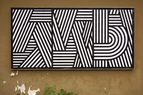 """Cristián Montané, Ficciones Typografika 517-519 (24""""x36""""). Installed on June 18, 2014. More on Ficciones Typografika."""