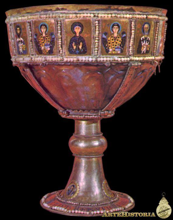 Caliz Bizantino,siglo X,hecho en oro con esmalte. Basilica de San Marcos  Venecia