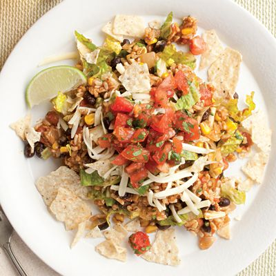 Vegetarian Taco Salad Recipe Link: eatingwell.com Click here for more healthy recipes!