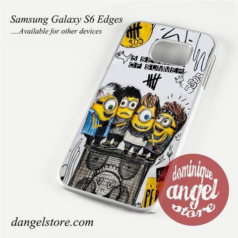 5sos minion Phone Case for Samsung Galaxy S3/S4/S5/S6/S6 Edge