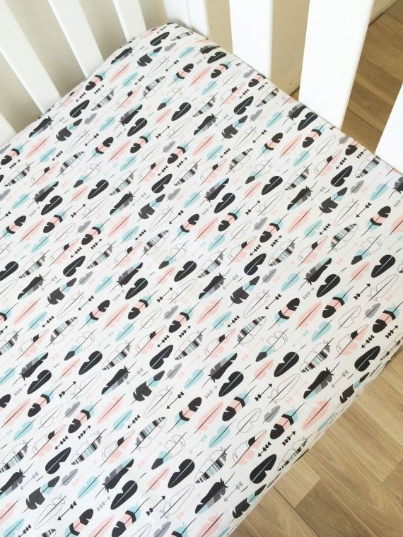 Modern Fitted Crib Sheet Baby Cot Sheet by ElskeLittleStyle