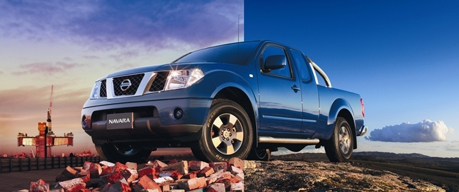 The best of both worlds. A blue Navara.