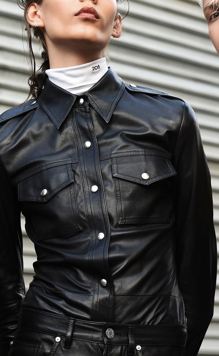 Black Leather Blouse and black Leather Pants    black.leather ... cb93c11350