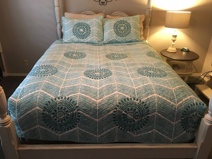 Full Queen Beach Style Fitted Coverlet Coastal Bedding