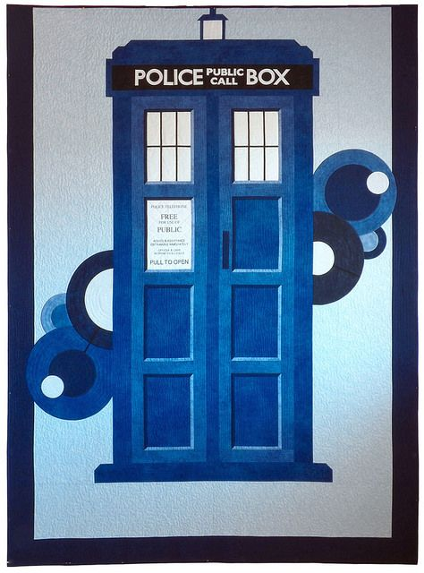 Awesome Doctor Who quilt