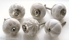 These Please White & Cream Ceramic China Cupboard Door Knobs Handles Drawer