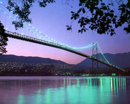 Lions Gate Bridge and the hills of West Vancouver ~ Vancouver tourism photo