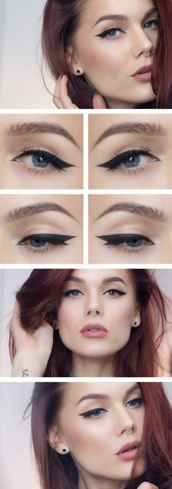 strong cat eye + bold brow + muted rose lips - stunning! ~ we ❤ this! moncheriprom.com