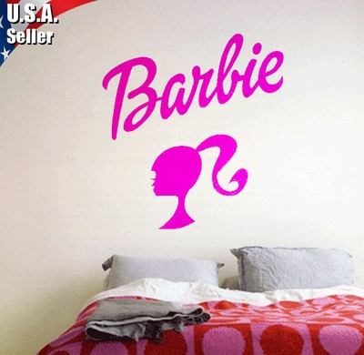 17 best images about stickers on pinterest diy wall for Barbie wall mural