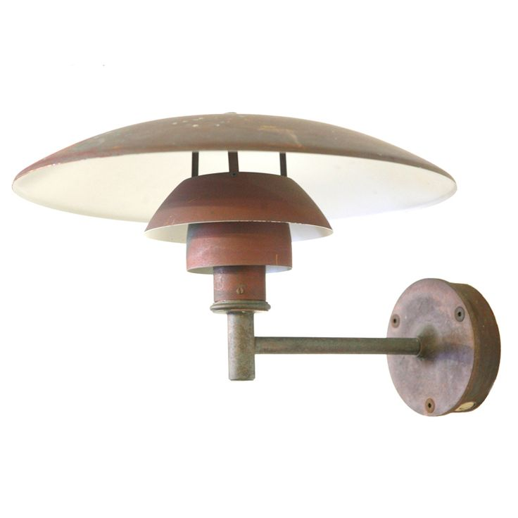 SET OF 4 Copper Wall Light by Poul Henningsen PH4,5/3 model Copper wall, Lights and Walls