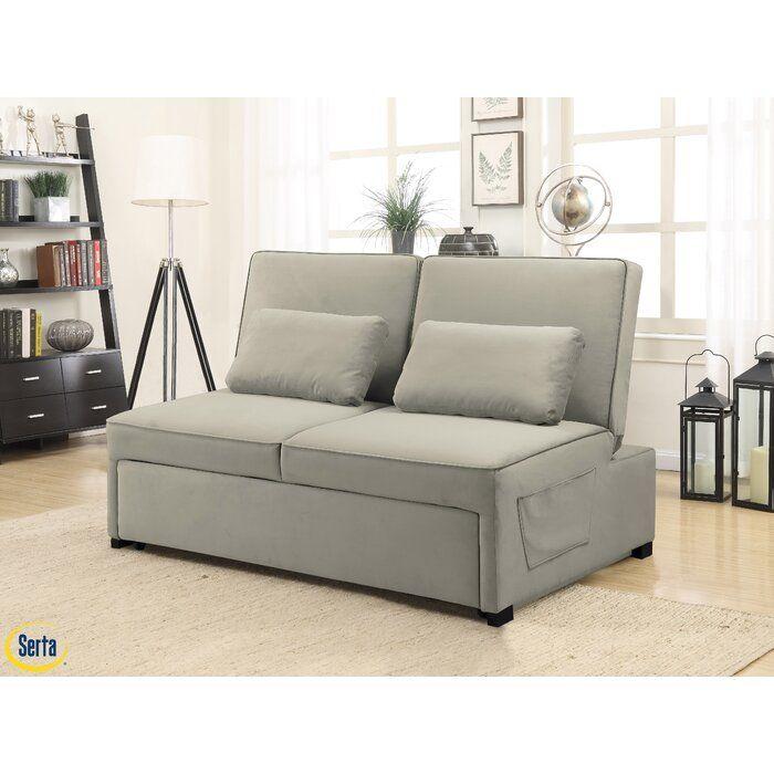 Serta Tavin Queen Split Back Convertible Sofa Wayfair Multi
