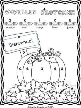 Gratuit! Activité pour les voyelles (French Vowels)