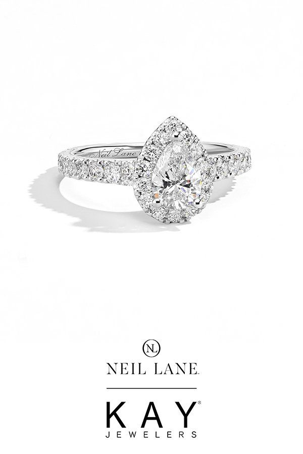 Neil Lane Premiere Diamond Engagement Ring 1 1 2 Ct Tw 14k Gold Kay In 2020 Pear Engagement Ring Pear Shaped Diamond Engagement Rings Pear Shaped Halo Engagement Ring