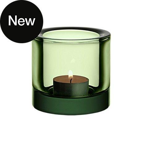 iittala 'Kivi' glass in forest green tea light holder, simply beautiful!