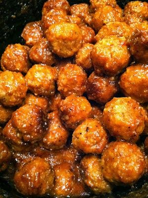 Crock pot sticky BBQ Meatballs Quick and Easy Crockpot Recipes