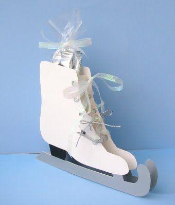 Treat Bag idea for an ice skating birthday party