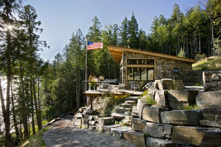 Rustic Lake House-Reid Smith Architects-01-1 Kindesign