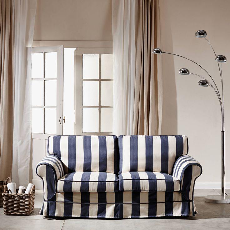 ATLANTICO kanapé kék fehér 190x90x93cm