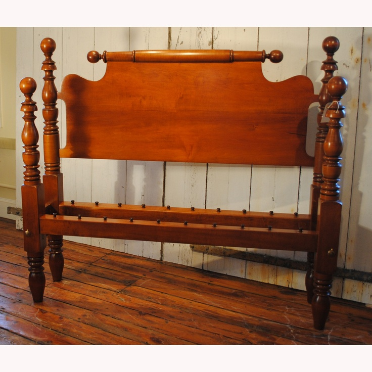 Balltop Lowpost Queen Bed In Maple, Circa 1830   Leonards Antiques