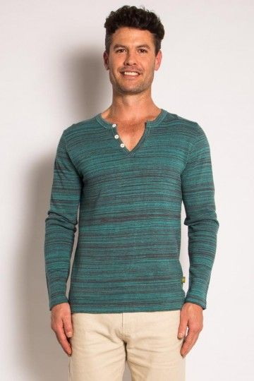 Mens Hemp Cotton funky stripe jumper
