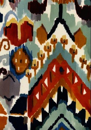 Ikat by textile designer Luli Sanchez. via the designer's site