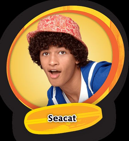Teen Beach Movie Bikers | Seacat is a fun, quirky dude, and a member of the clique of surfers.