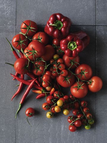 tomatoes and peppers, from Modern Foodie