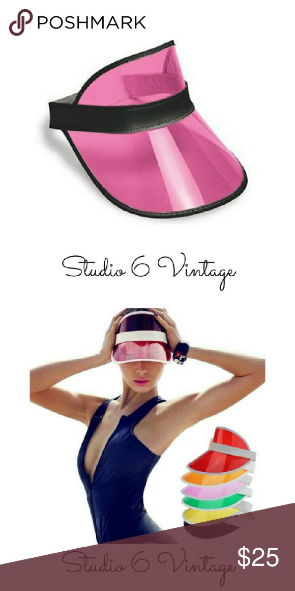Pink Clear Visor Hat Pink Clear Visor Hat. Perfect for a pool party or day on the beach! Accessories Hats