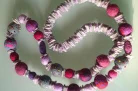 Risultati immagini per collane di lana fatte a mano tutorial