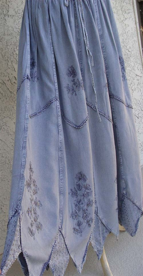 Summer Indian Skirts in embroidered gauze from Modest Clothing Fashion Styles for Wpmen, $14.99