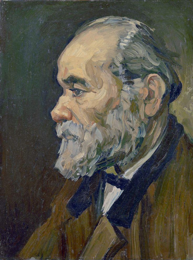 2D ruimtesuggestie Èn profiel aanzicht van een portret door van Gogh - Portret van een oude man[1885]
