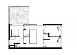 Place : Sannois, F Type: single house Year : 2009 Budget : private Surface : 150m². De par sa forme, la construction constitue une barrière acoustique naturelle. Cette maison est une des premières réalisations en panneaux de bois massif préfabriqués en France. karawitz