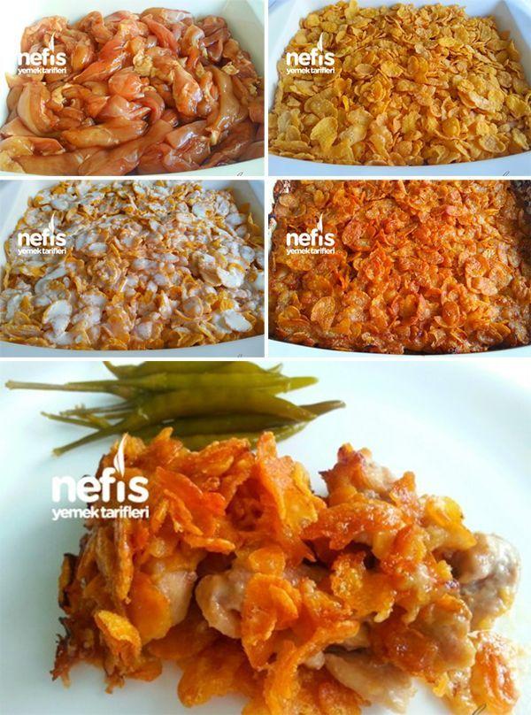 Kremalı Cornflakesli Tavuk
