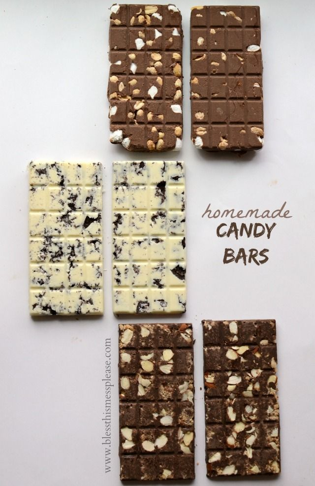 Homemade Candy Bar Recipes - cookies and cream, Mr. Goodbar, Sympathy and more! Easier than you think too.