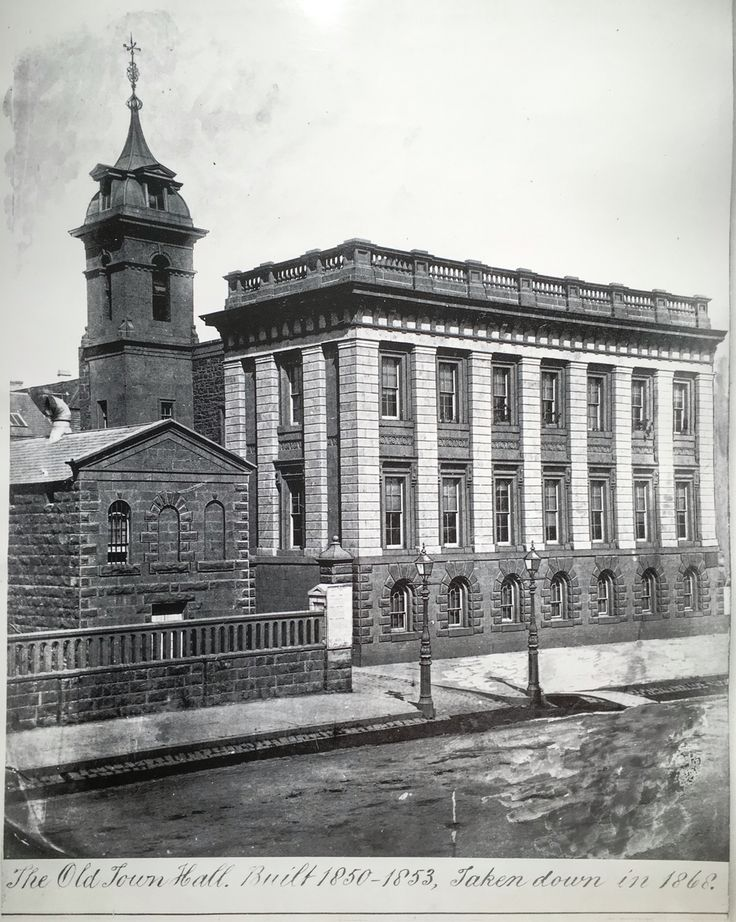 Old Melbourne Town Hall 1868