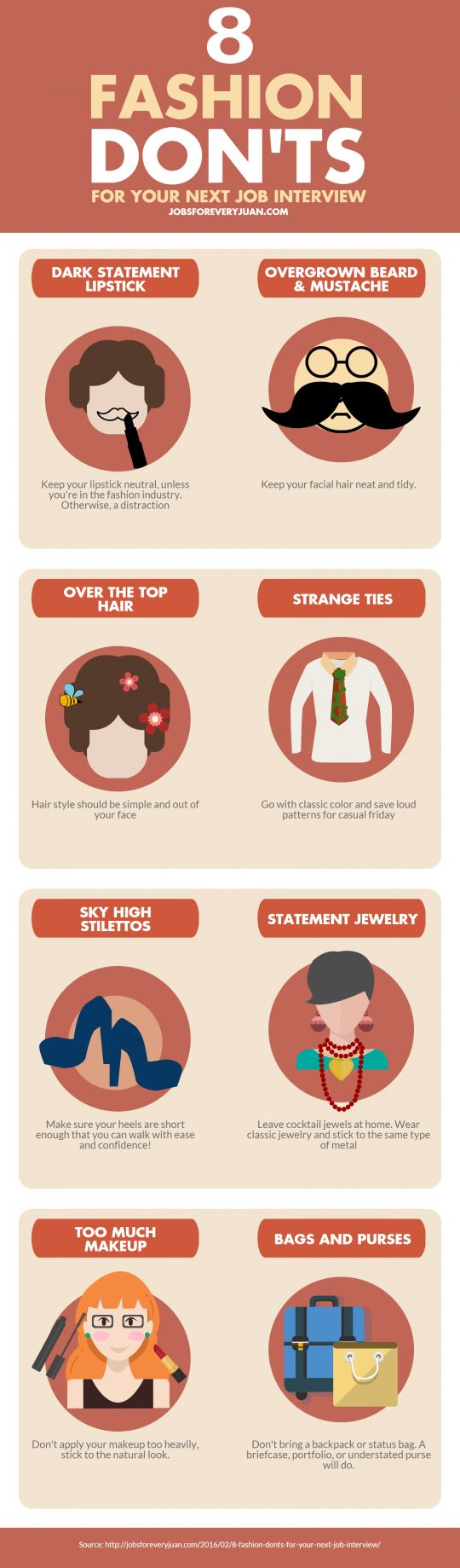 8 Fashion Donu0027ts For Your Next Job Interview [Infographic]. Job  Interview TipsJob InterviewsCareer