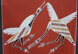 KW-781 cx Two dancing Brolga