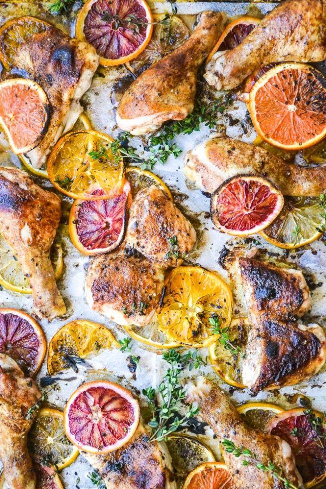 Roasted Chicken with Allspice and Citrus #Chicken #Citrus #Allspice