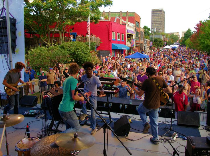 LAAFF Festival Concert In Downtown Asheville NC