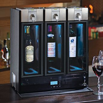 Our Skybar ™ Wine Preservation & Optimization System is the first wine bar for the home that perfectly chills and naturally preserves your favorite wines. An innovative pouring technique smoothly decants your preferred glass of wine, allowing you to enjoy all of its natural flavors and notes.